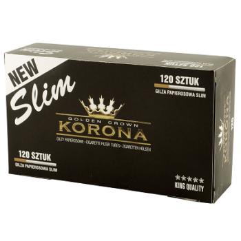 120 Tubos Cigarros Korona Slim